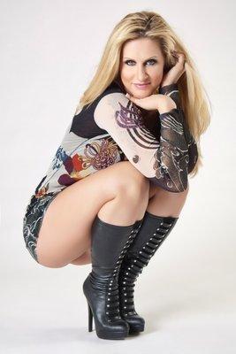 Tattooed blonde female Ryan Conner rocks her big ass wearing mesh stockings  254079