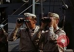 Image of Officers observe maneuvers from USS Elizabeth C. Stanton, AP-69 United States USA, 1942, second 8 stock footage video 65675020465