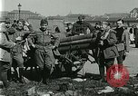 Image of Austro-Hungarian soldiers pose with field artillery Austria, 1917, second 33 stock footage video 65675020557