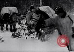 Image of German ski troops in World War 2 Finland, 1943, second 21 stock footage video 65675020588