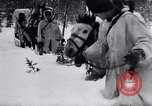 Image of German ski troops in World War 2 Finland, 1943, second 34 stock footage video 65675020588
