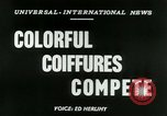 Image of Coiffures compete Paris France, 1953, second 5 stock footage video 65675020698
