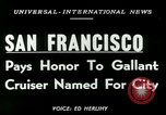 Image of USS San Francisco San Francisco California USA, 1950, second 3 stock footage video 65675020704
