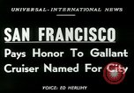 Image of USS San Francisco San Francisco California USA, 1950, second 6 stock footage video 65675020704