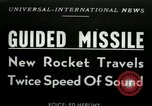 Image of rocket driven missile Utah United States USA, 1953, second 1 stock footage video 65675020708