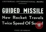 Image of rocket driven missile Utah United States USA, 1953, second 2 stock footage video 65675020708