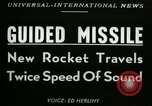 Image of rocket driven missile Utah United States USA, 1953, second 3 stock footage video 65675020708