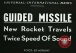 Image of rocket driven missile Utah United States USA, 1953, second 4 stock footage video 65675020708