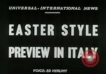 Image of Italian designs Rome Italy, 1953, second 4 stock footage video 65675020728