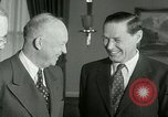 Image of President Dwight Eisenhower Washington DC White House USA, 1953, second 9 stock footage video 65675020732