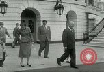 Image of President Dwight Eisenhower Washington DC White House USA, 1953, second 16 stock footage video 65675020734