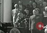 Image of Harry S Truman awards Medal of Honor Washington DC White House USA, 1951, second 3 stock footage video 65675020737
