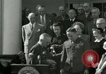Image of Harry S Truman awards Medal of Honor Washington DC White House USA, 1951, second 4 stock footage video 65675020737