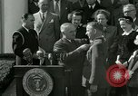 Image of Harry S Truman awards Medal of Honor Washington DC White House USA, 1951, second 14 stock footage video 65675020737
