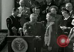 Image of Harry S Truman awards Medal of Honor Washington DC White House USA, 1951, second 15 stock footage video 65675020737