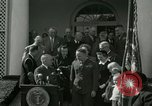 Image of Harry S Truman awards Medal of Honor Washington DC White House USA, 1951, second 21 stock footage video 65675020737