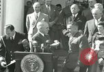 Image of Harry S Truman awards Medal of Honor Washington DC White House USA, 1951, second 32 stock footage video 65675020737