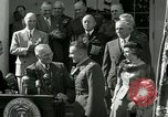 Image of Harry S Truman awards Medal of Honor Washington DC White House USA, 1951, second 42 stock footage video 65675020737