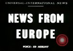 Image of American trolley cars Vienna Austria, 1949, second 1 stock footage video 65675020788