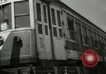 Image of American trolley cars Vienna Austria, 1949, second 15 stock footage video 65675020788