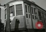 Image of American trolley cars Vienna Austria, 1949, second 16 stock footage video 65675020788