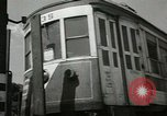 Image of American trolley cars Vienna Austria, 1949, second 17 stock footage video 65675020788