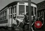 Image of American trolley cars Vienna Austria, 1949, second 21 stock footage video 65675020788