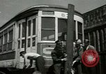 Image of American trolley cars Vienna Austria, 1949, second 22 stock footage video 65675020788