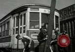 Image of American trolley cars Vienna Austria, 1949, second 23 stock footage video 65675020788