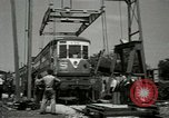 Image of American trolley cars Vienna Austria, 1949, second 25 stock footage video 65675020788