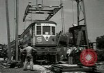 Image of American trolley cars Vienna Austria, 1949, second 28 stock footage video 65675020788