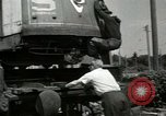 Image of American trolley cars Vienna Austria, 1949, second 34 stock footage video 65675020788