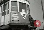 Image of American trolley cars Vienna Austria, 1949, second 37 stock footage video 65675020788