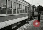 Image of American trolley cars Vienna Austria, 1949, second 48 stock footage video 65675020788