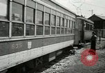 Image of American trolley cars Vienna Austria, 1949, second 50 stock footage video 65675020788