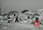 Image of brick cleaning Berlin Germany, 1955, second 36 stock footage video 65675020796
