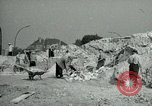 Image of brick cleaning Berlin Germany, 1955, second 38 stock footage video 65675020796