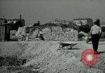 Image of brick cleaning Berlin Germany, 1955, second 54 stock footage video 65675020796