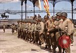 Image of flag presentation ceremony Cherbourg Normandy France, 1944, second 1 stock footage video 65675020906