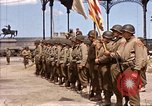 Image of flag presentation ceremony Cherbourg Normandy France, 1944, second 2 stock footage video 65675020906