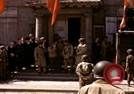 Image of flag presentation ceremony Cherbourg Normandy France, 1944, second 5 stock footage video 65675020906