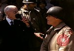 Image of flag presentation ceremony Cherbourg Normandy France, 1944, second 8 stock footage video 65675020906