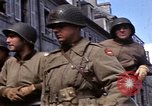 Image of flag presentation ceremony Cherbourg Normandy France, 1944, second 17 stock footage video 65675020906