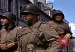 Image of flag presentation ceremony Cherbourg Normandy France, 1944, second 18 stock footage video 65675020906