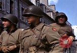 Image of flag presentation ceremony Cherbourg Normandy France, 1944, second 19 stock footage video 65675020906