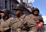 Image of flag presentation ceremony Cherbourg Normandy France, 1944, second 20 stock footage video 65675020906