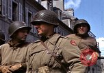 Image of flag presentation ceremony Cherbourg Normandy France, 1944, second 21 stock footage video 65675020906