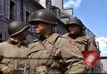 Image of flag presentation ceremony Cherbourg Normandy France, 1944, second 22 stock footage video 65675020906