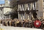 Image of flag presentation ceremony Cherbourg Normandy France, 1944, second 23 stock footage video 65675020906