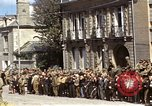 Image of flag presentation ceremony Cherbourg Normandy France, 1944, second 24 stock footage video 65675020906